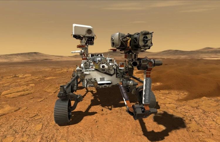 Марсоход Perseverance успешно сел на поверхность Красной планеты и прислал первое фото