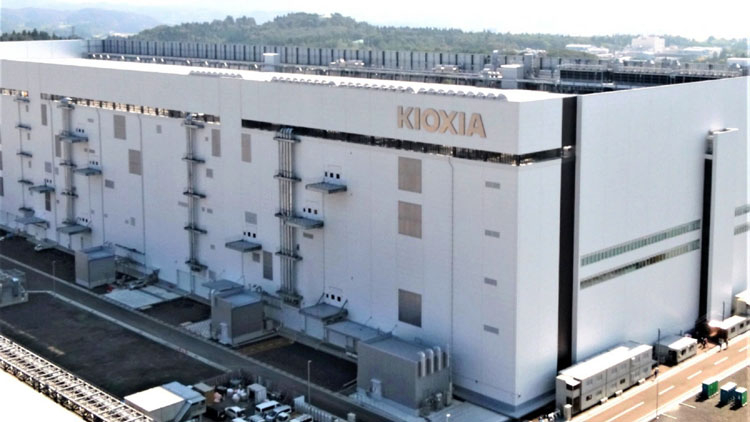 Завод Kioxia по производству памяти 3D NAND в Японии