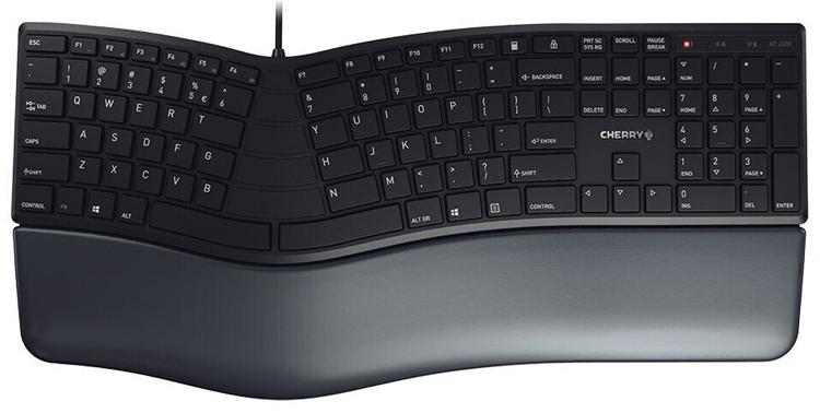 Клавиатура Cherry KC 4500 Ergo ориентирована на длительный набор текстов