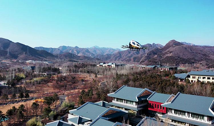 Аэротакси EHang прошли испытания морозом в небе над Пекином