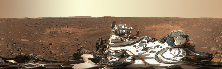 NASA опубликовало первую панораму Марса с огромным разрешением, а также почти 6000 фото сPerseverance