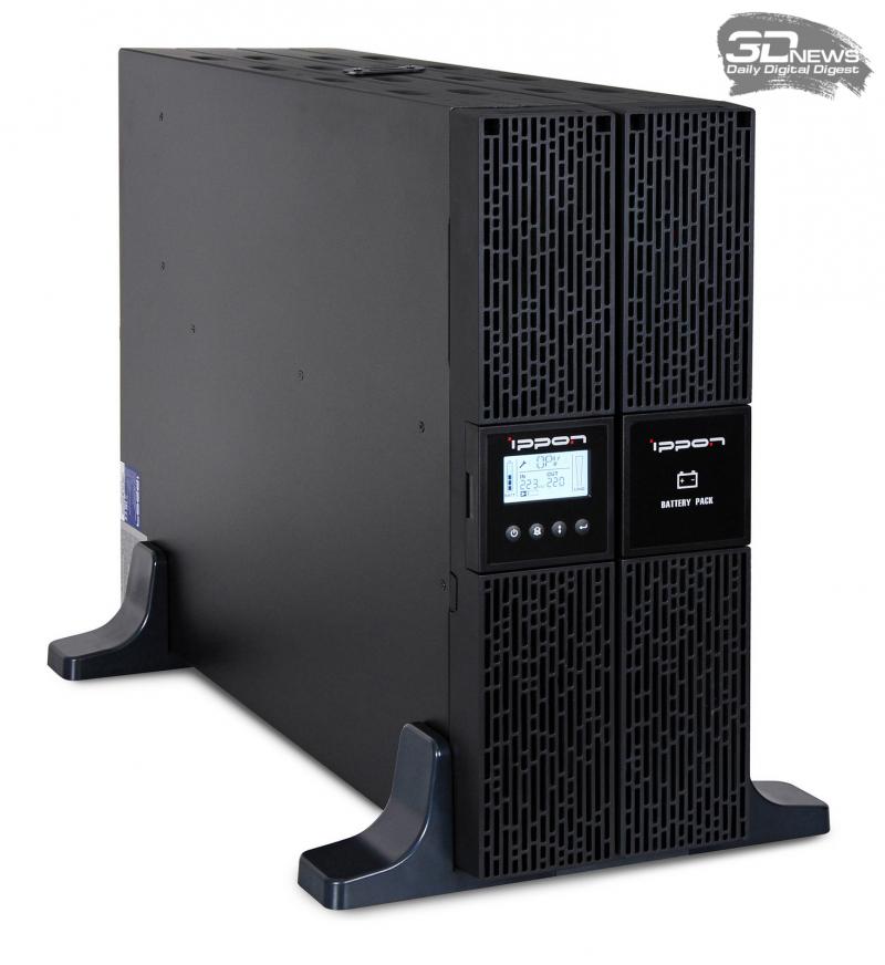 Ippon Smart Winner II 2000 с одним дополнительным батарейным модулем (фото производителя)