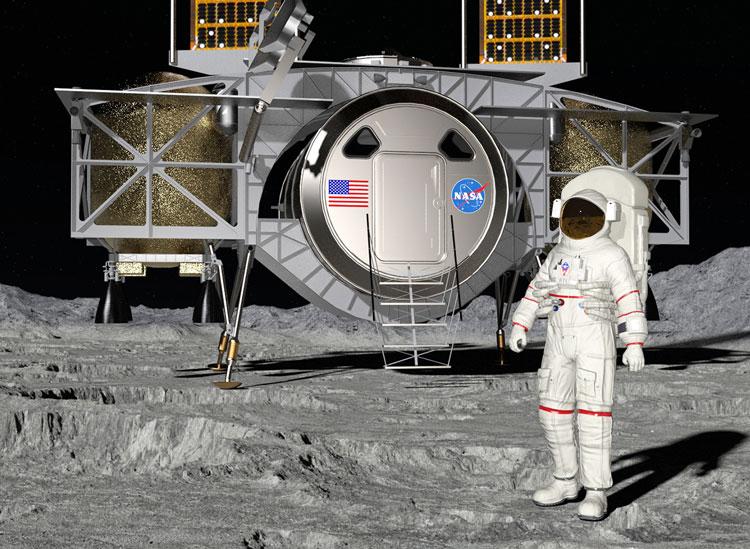 Лунный посадочный модуль Dynetics. Источник изображения: Dynetics