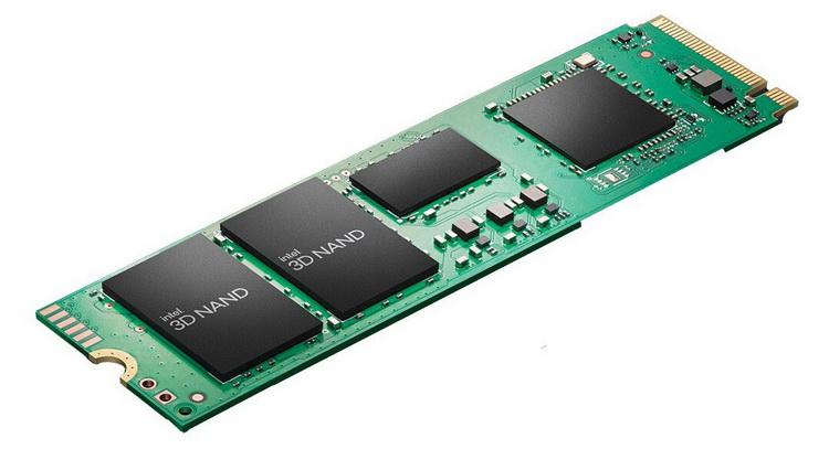 Intel представила серию доступных накопителей SSD 670p — до 2 Тбайт QLC и до 3500 Мбайт/с