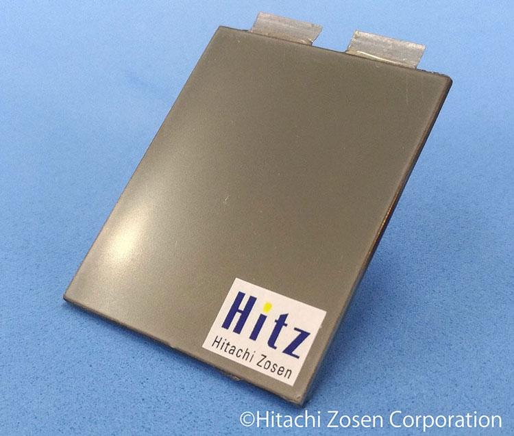 Твердотельный литиевый аккумулятор Hitachi Zosen. Источник изображения: Hitachi Zosen