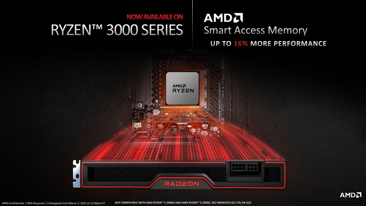 AMD adds Smart Access Memory support to Ryzen 3000-series CPUs