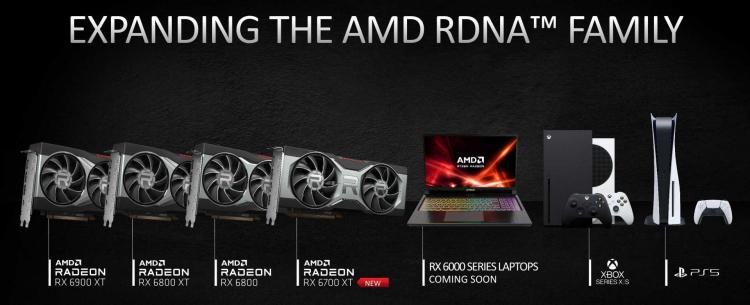 Серия продуктов AMD с архитектурой RDNA 2