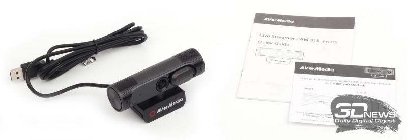 Упаковка и комплект поставки вебкамеры AVerMedia CAM PW315