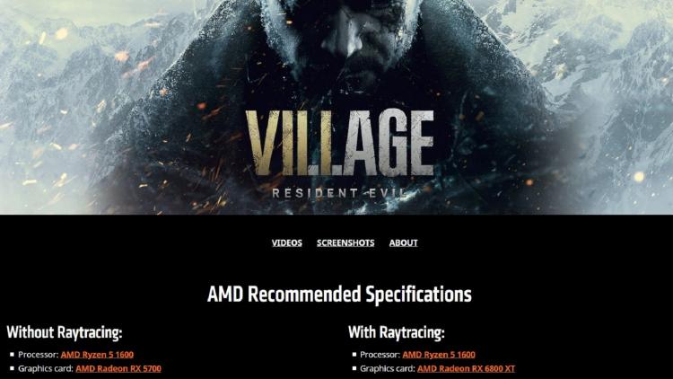 """Для трассировки лучей в ПК-версии Resident Evil Village потребуется видеокарта уровня Radeon RX 6800 XT"""""""