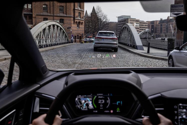 """Audi Q4 e-tron получит HUD-дисплейдля вывода полезной информации прямо на лобовом стекле"""""""