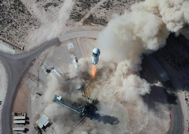Старт ракеты New Shepard. Источник изображения: NASA