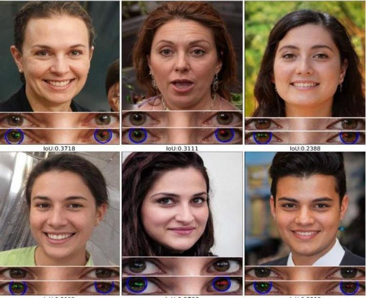 Анализ отражения в глазах показал, что все эти люди не настоящие. Источник изображения: