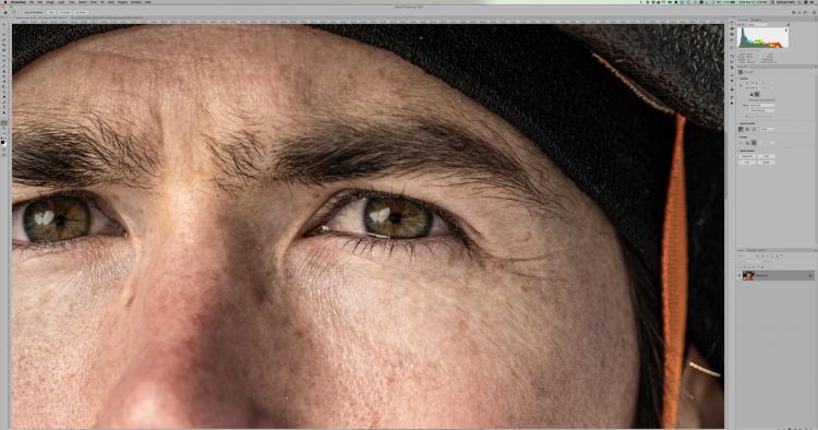 Оригинальное изображение 11205×8404 с Fujifilm GFX 100 в масштабе 100% в Adobe Photoshop