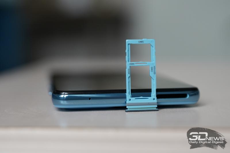 Слот для двух карточек nano-SIM и/или одной карточки microSD