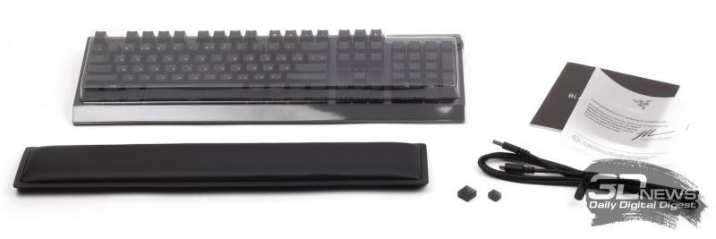 Комплект поставки клавиатуры Razer BlackWidow V3 Pro