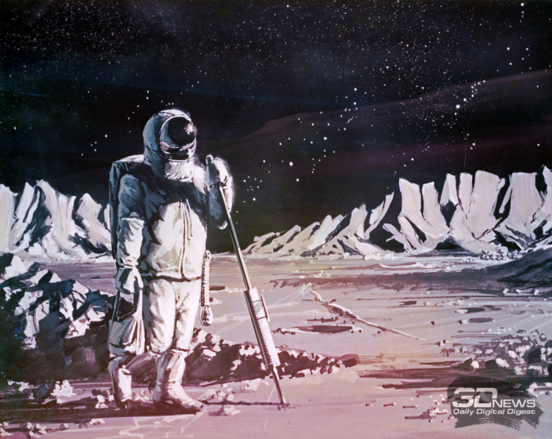 В начале программы Apollo инженеры NASA очень мало знали о лунной поверхности. Картина из собрания NASA