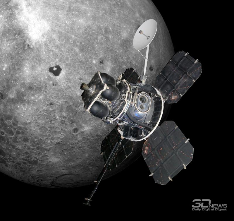 За 1966-1967 годы пять аппаратов Lunar Orbiter отсняли почти всю поверхность Луны. Фото NASA