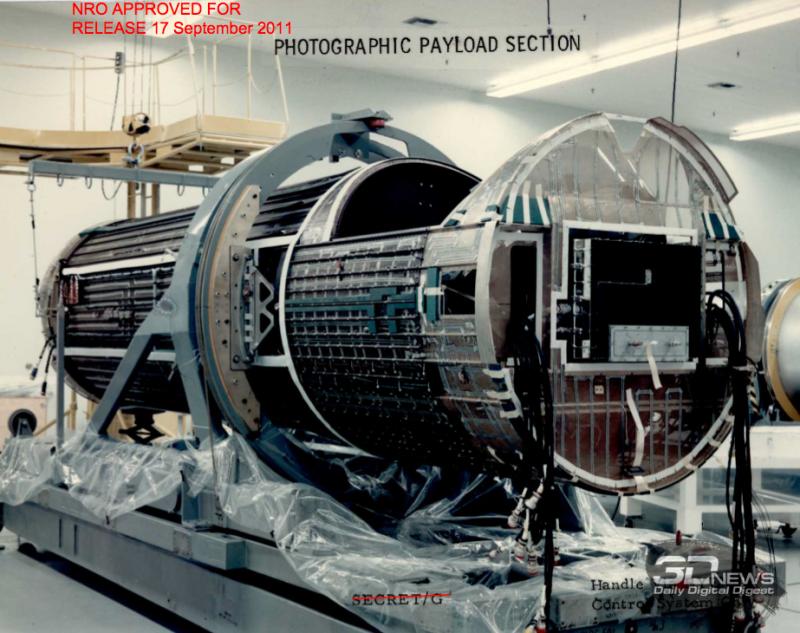 Ни одного достоверного снимка модуля Upward не опубликовано, хотя как выглядела и как работала фотоаппаратура спутника Gambit сейчас уже известно. https://en.wikipedia.org/wiki/KH-8_Gambit_3