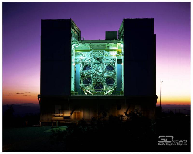 Предполагается, что для оригинальной шестизеркальной конфигурации основного инструмента обсерватории MMTO (Multiple Mirror Telescope Observatory) на горе Хопкинс (Аризона) использовалась матчасть военной станции MOL. Фото MMTO https://www.nasa.gov/feature/50-years-ago-nasa-benefits-from-mol-cancellation