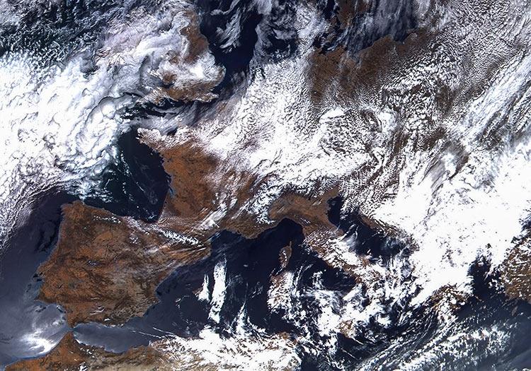 """«Роскосмос» опубликовал первый снимок с нового метеорологического спутника «Арктика-М»"""""""