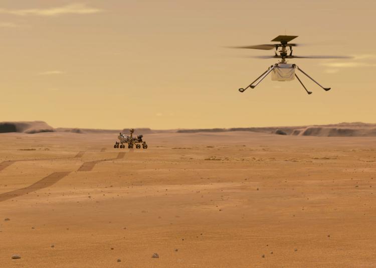 """Марсианский вертолёт Ingenuity сбросил кожух. Следующий этап — распаковка"""""""