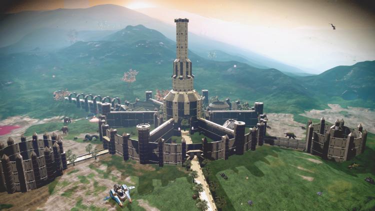 «Потрясающая работа»: игрок построил в No Man's Sky Имперский город из TES IV: Oblivion
