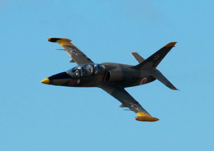 Учебно-боевой самолёт L-29 «Альбатрос», которым будет управлять ИИ в имитации ближнего воздушного боя