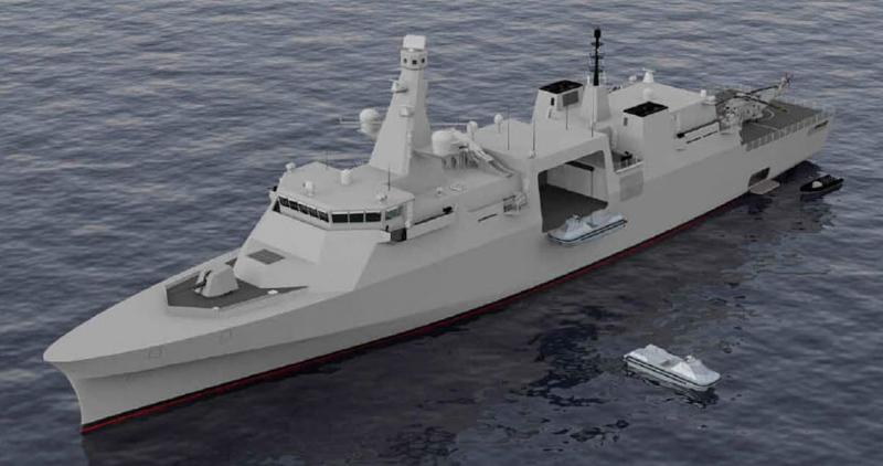 Прототип одного из фрегатов нового поколения от Babcock International