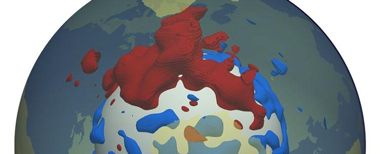 Аномалия в мантии под Африкой. Источник изображения: Ward et al., Geochemistry, Geophysics, Geosystems
