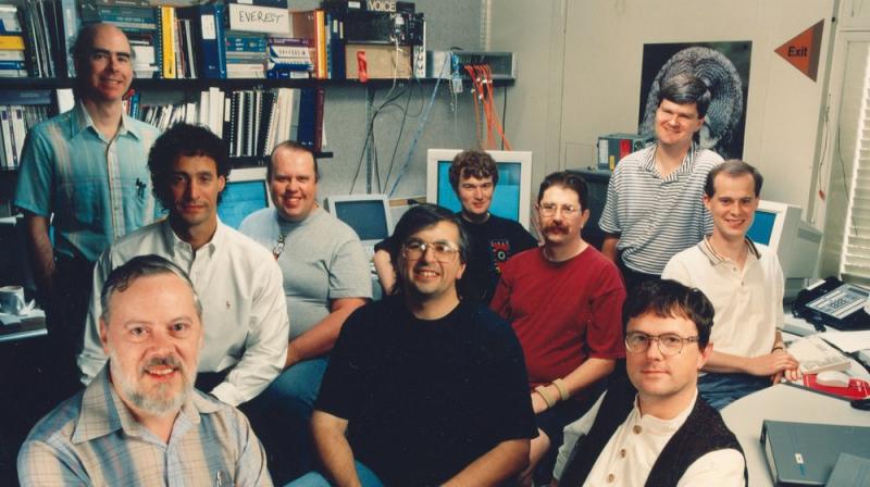 Разработчики Plan 9, подразделение Computing Techniques Research Department. Фото: Nokia/Bell Labs