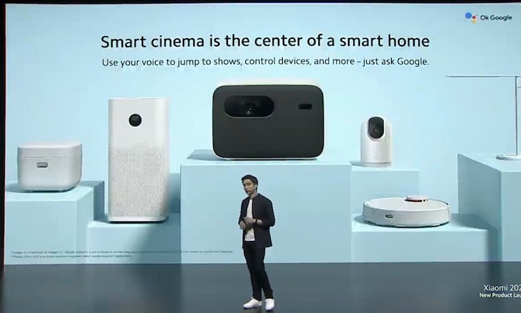 Xiaomi представила проектор Mi Smart Projector 2 Pro с Google Ассистентом по цене 1000 евро