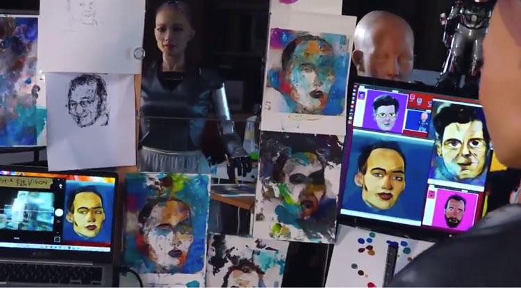Созданный роботом Sophia цифровой NFT-портрет продан почти за $700 тыс