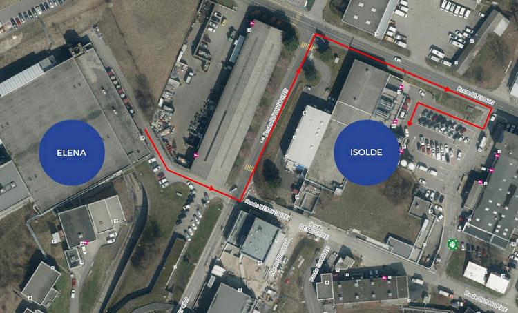 Антивещество необходим перевозить из комплекса ELEA в ЦЕРН в комплекс лабораторий ISOLDA. Источник изображения: CERN