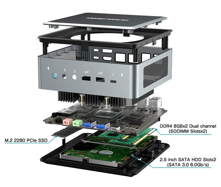 """В основу неттопа MINISFORUM HM50 стоимостью от $699 лёг процессор Ryzen 5 4500U"""""""