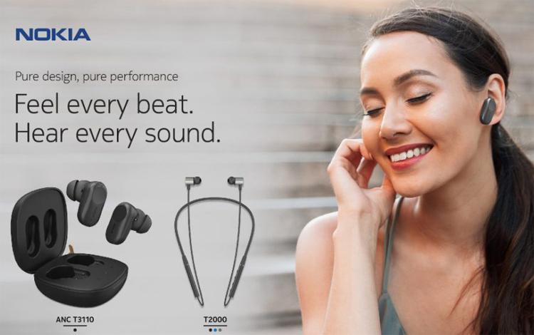 Представлены полностью беспроводные наушники Nokia T3110 с активным шумоподавлением