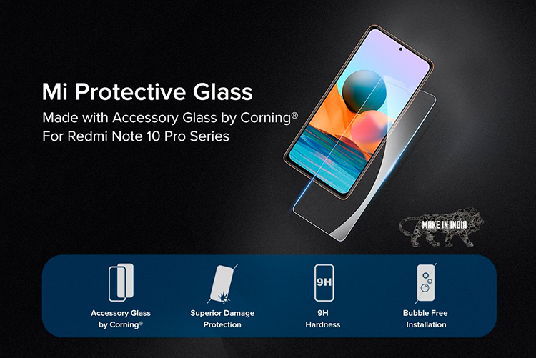 Xiaomi совместно с Corning разработала защитное стекло для Redmi Note 10 Pro и Note 10 Pro Max