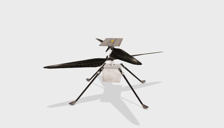 """Вертолёт Ingenuity успешно пережил холодную ночь на Марсе и готовится к первому полёту"""""""