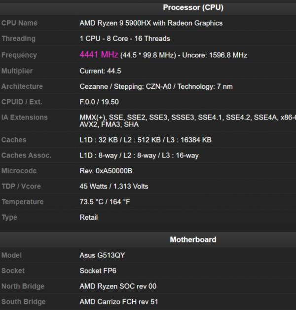"""Мощный игровой ноутбук ASUS ROG Strix G15 получит процессор Ryzen 9 5900HX и графику Radeon RX 6800M"""""""