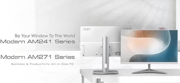 "MSI представила моноблоки Modern AM241 и AM271 на платформе Intel Tiger Lake"""