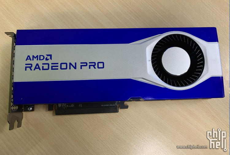 The first images of AMD Radeon PRO professional graphics card based on RDNA 2 with 16 GB of video memory appeared