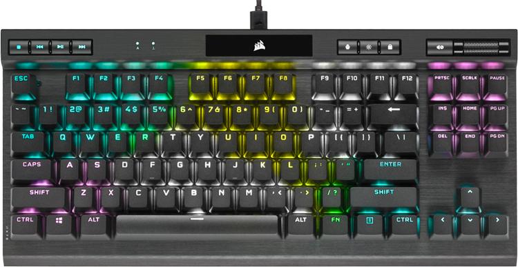 """Компактная игровая клавиатура Corsair K70 RGB TKL механического типа оценена в $140"""""""