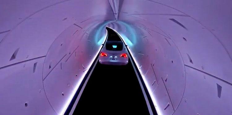 Видео первых поездок в туннелях Boring Company под Лас-Вегасом: медленно и скучно