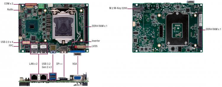 """Материнская плата Aaeon Gene-CML5 размером с ладонь поддерживает 8-ядерные Intel Comet Lake"""""""