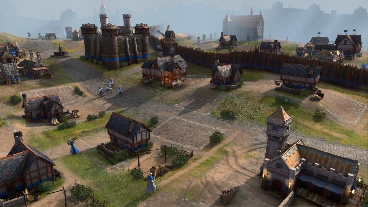 Английский город в Age of Empires IV