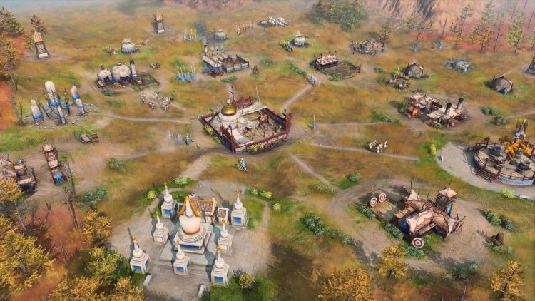 Передвижной монгольский лагерь в Age of Empires IV