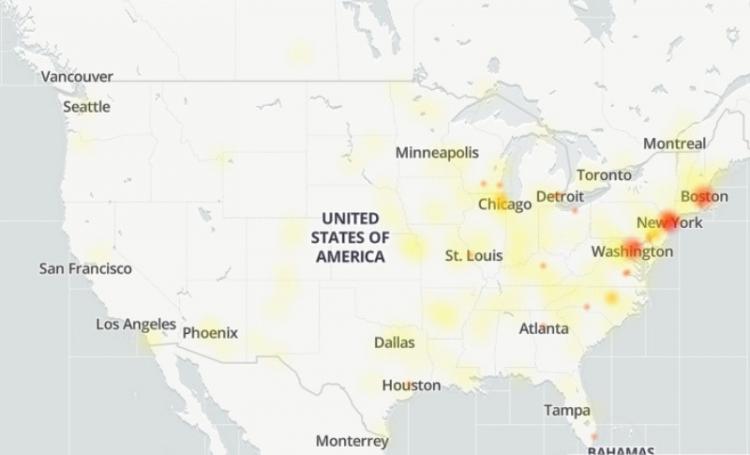 Карта сбоя в Google Диске