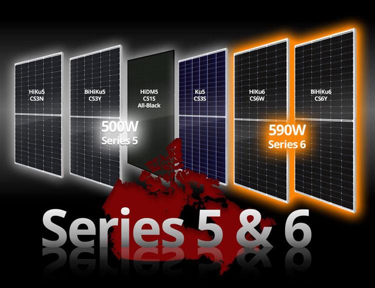 Предыдущие поколения солнечных панелей Canadian Solar. Источник изображения: Canadian Solar