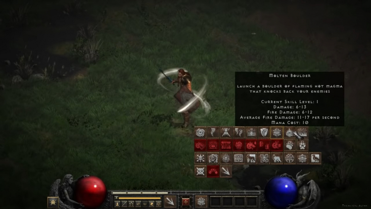 Друид в Diablo II: Resurrected (качество оставляет желать лучшего)