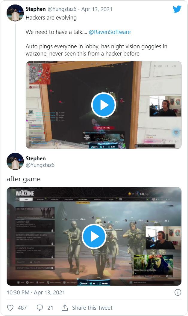 Эволюция: у читеров в Call of Duty: Warzone появились очки ночного видения, которых даже нет в игре