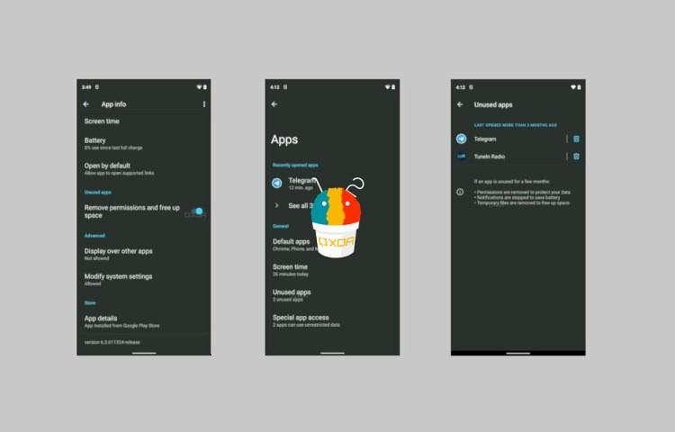 Android 12 будет автоматически переводить неиспользуемые приложения в спящий режим